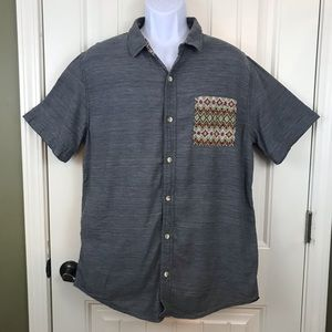 On The Byas Button front shirt Aztec pocket